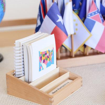 美国州旗命名卡