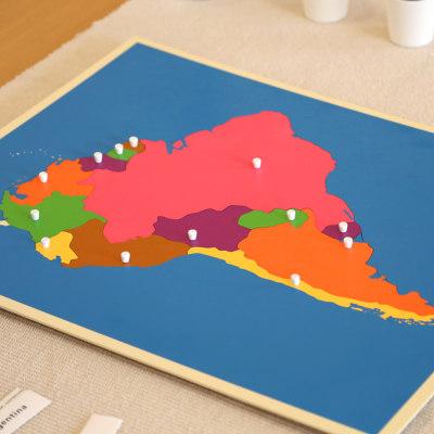 南美洲地图拼图