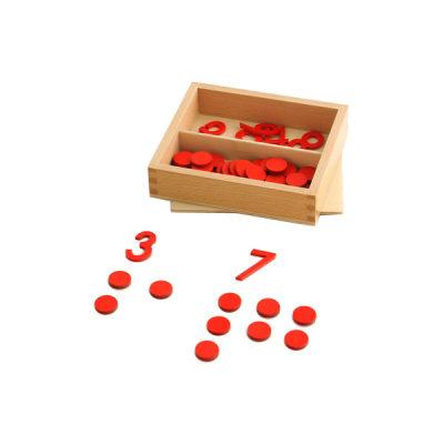 木制数字与筹码