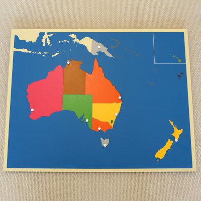 澳洲地图拼图