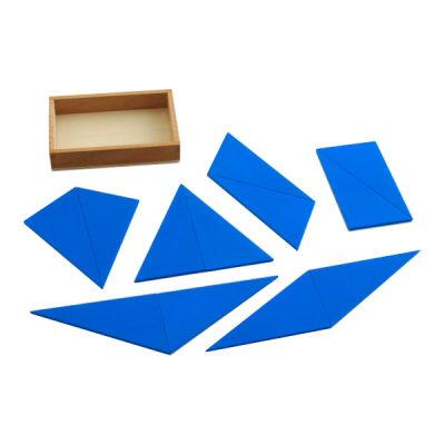 蓝色构成三角形