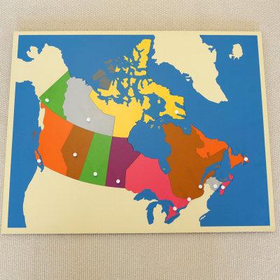 加拿大地图拼图
