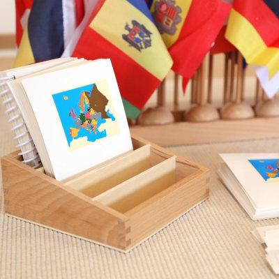 欧洲国旗及名称卡片