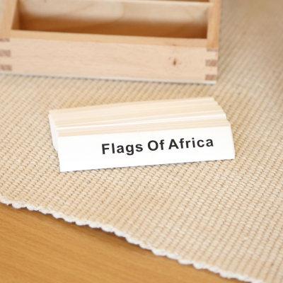 非洲国旗命名卡