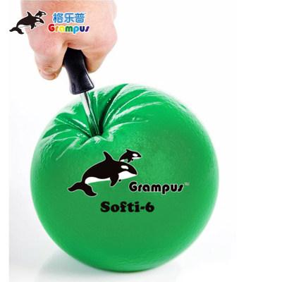 格乐普早教自充气球躲避球虎鲸球发泄球