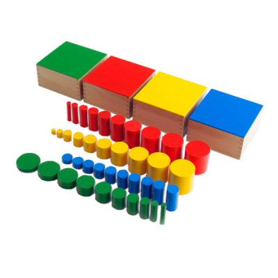 四色圆柱体