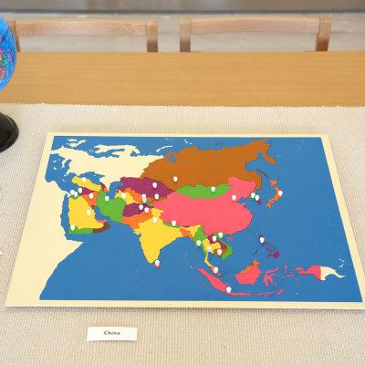 亚洲地图拼图
