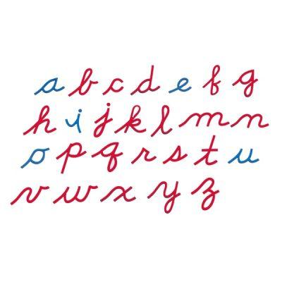 草体小写活动字母