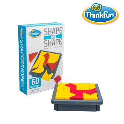 Thinkfun 儿童益智玩具男孩形对形七巧板几何拼图 男孩女孩儿童玩具6~12岁锻炼空间想象力 Shape by Sh