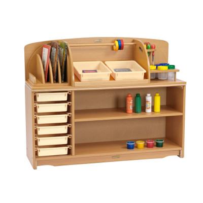 创意组合柜多仓储货架配收纳盒(124cm)