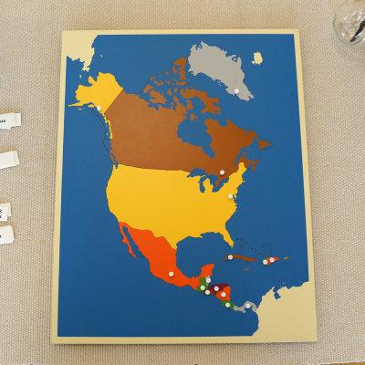 北美洲地图拼图