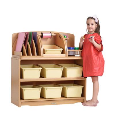 创意组合斜层板柜配收纳盒(93cm)